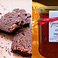 Fondant au chocolat à la marmelade d'orange amère