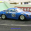 Alpine a110 white point (1/24ème) par sea sex and slot
