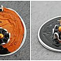 Pendentif orange et noir