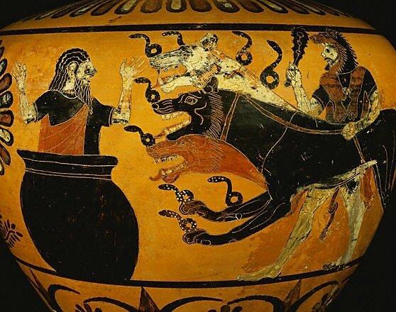 Héraclès, Cerbère et Eurythée, 525 av