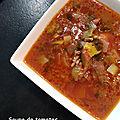 Soupe de tomates a la viande de boeuf