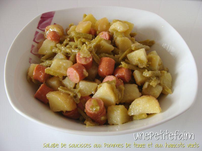 salade de saucisses aux pommes de terre et aux haricots verts une petite faim. Black Bedroom Furniture Sets. Home Design Ideas