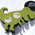 Carte d'anniversaire garçon en forme de dinosaure (adaptable pour des cartons d'invitation)