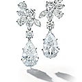 A pair of diamond ear pendants, by van cleef & arpels