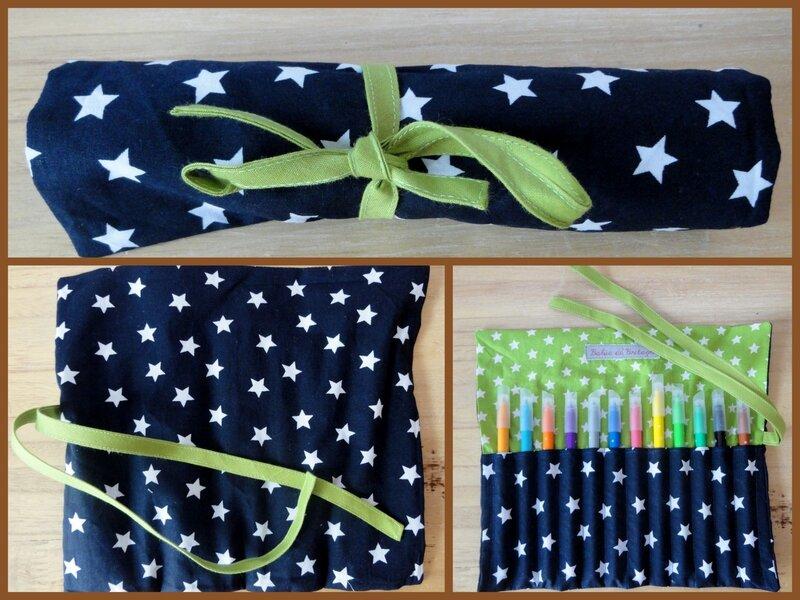 Montage Bleue à étoiles et vert étoilé