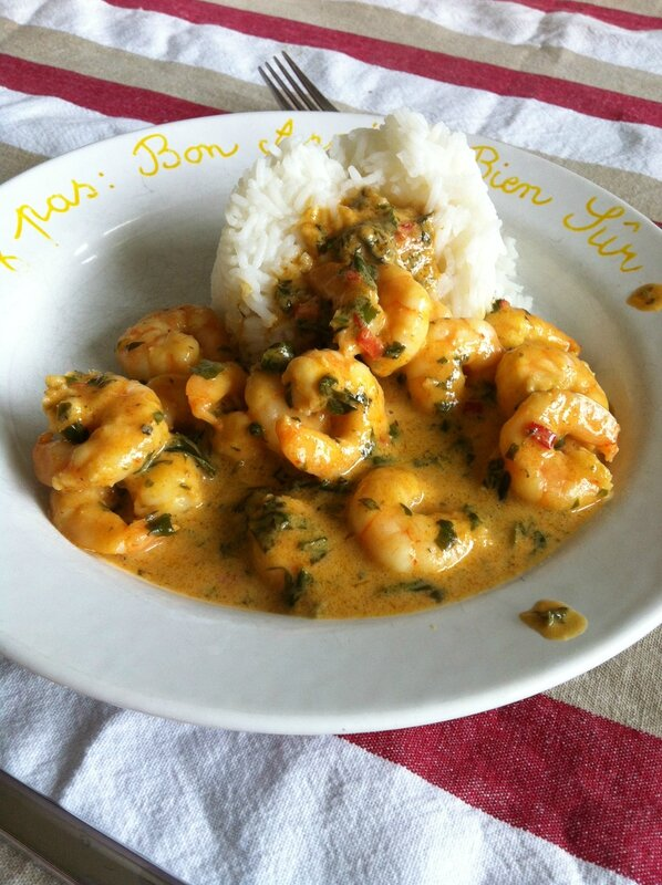 curry crevette