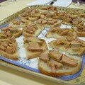 Toasts de foie gras