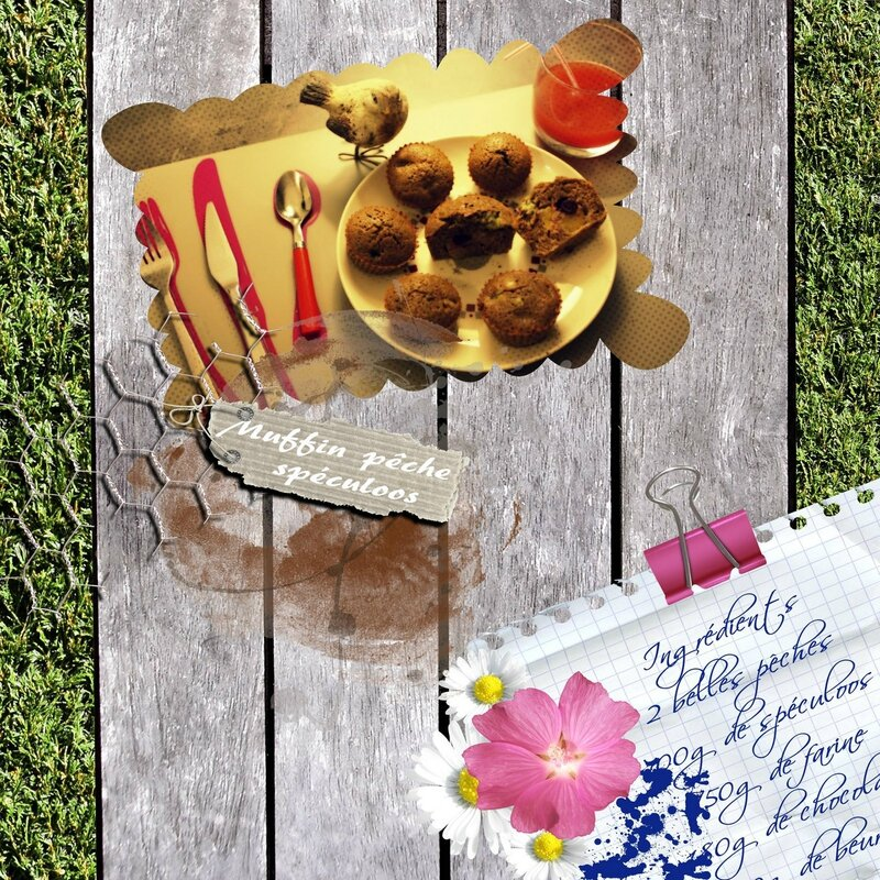 muffin pêche-fleurdô