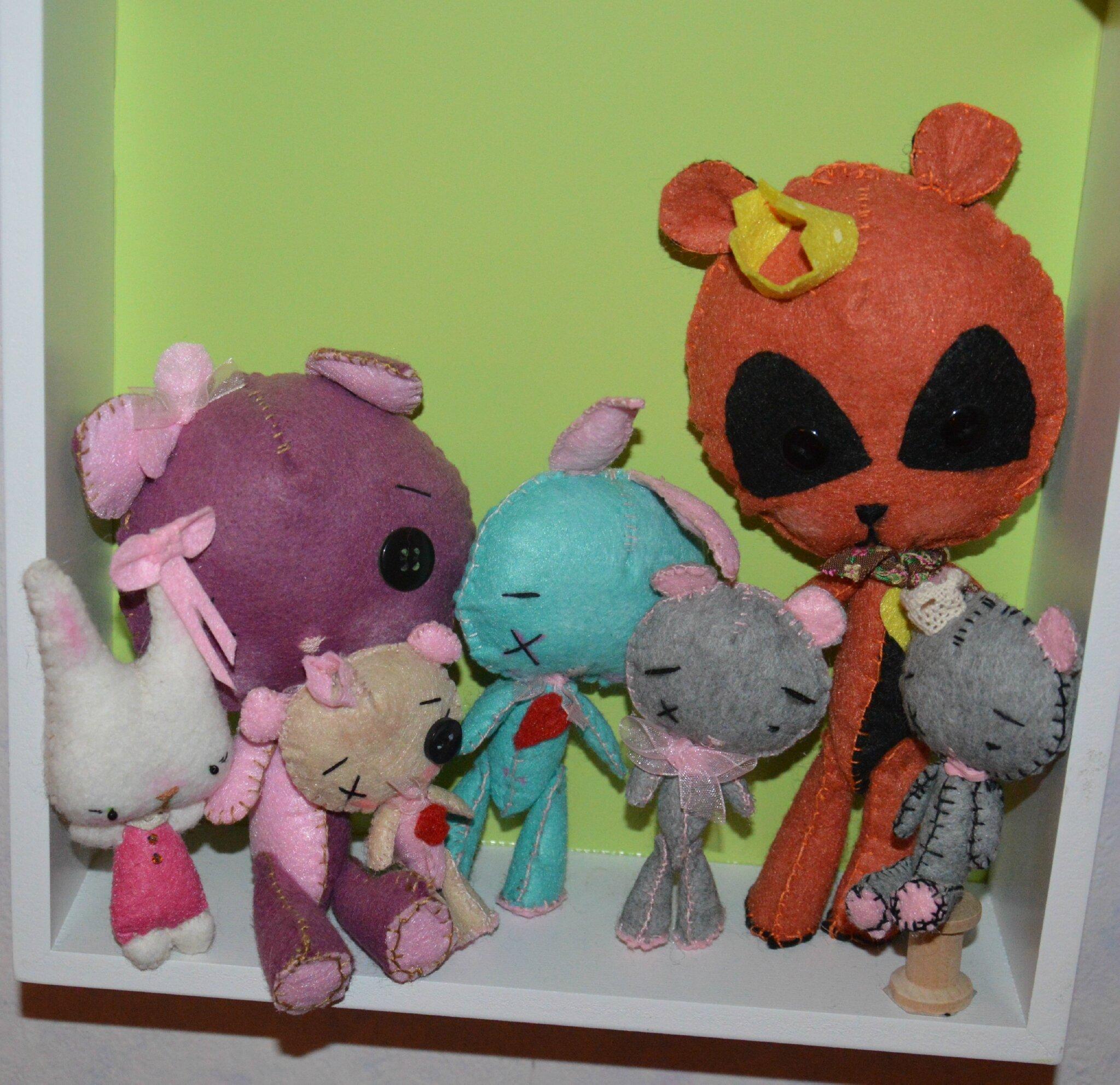ours, lapin, chat.... accessoires pour poupée ou tout simplement en déco !