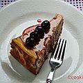 Cheesecake abricot cerise et cerise amarena