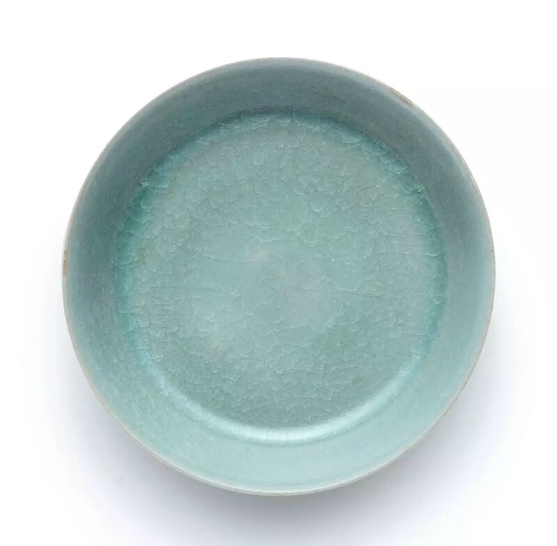 A highly important and extremely rare Ru Guanyao brush washer, Northern Song dynasty