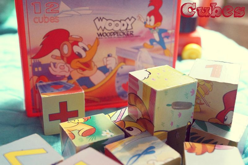 Cubes Woody Woodpecker