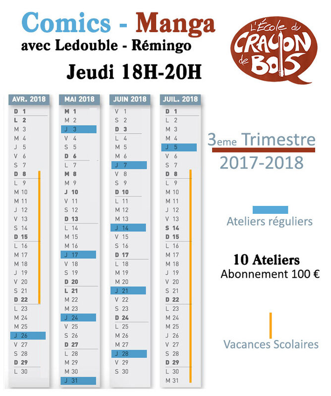 Calendrier Remingo ledouble 3 tri 2017-2018