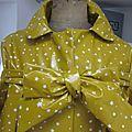Ciré AGLAE en coton enduit moutarde parsemé d'une pluie de petites étoiles blanches (4)