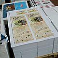 La palette des tirages de la première de couverture avant le façonnage