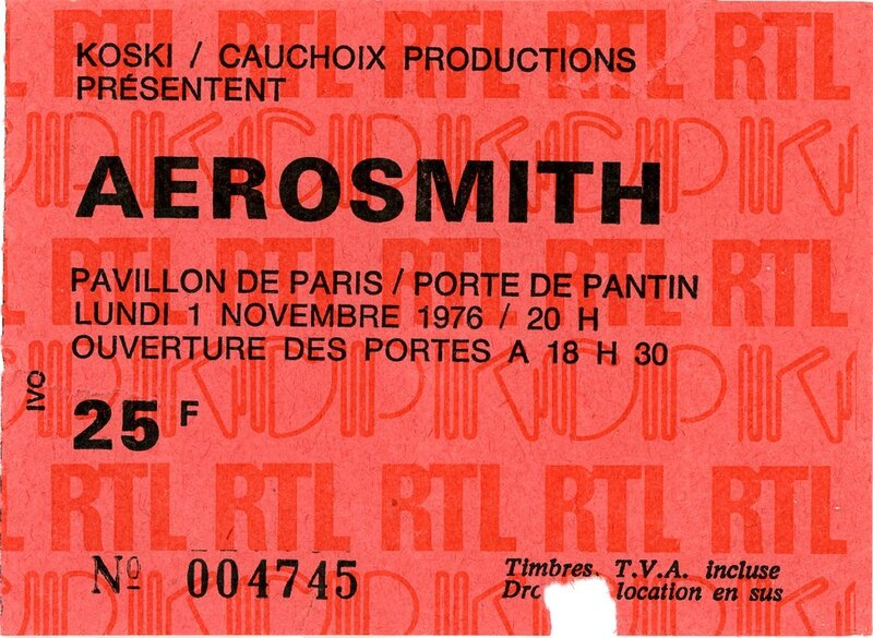1976 11 Aerosmith Pantin Billet