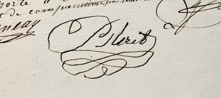 Signature de Bleret