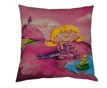 coussin-princesse-grenouille-lin