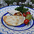 Entrée ou plat : chaussons carottes, poulet et sésame cuits au four