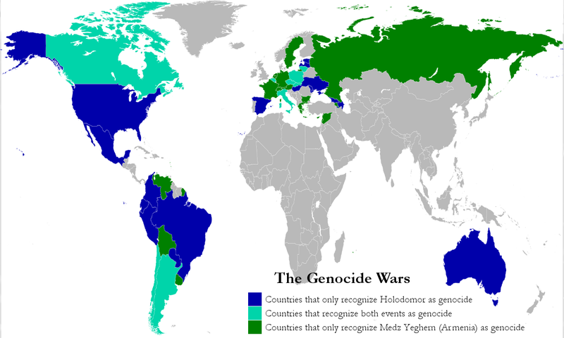World Recognition of Armenian massacres and Holodomor as genocides