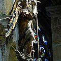 Saint Michel terrassant le dragon, sculpture sur bois, XVIIe siècle