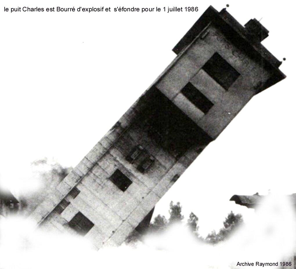 des derniers moments de PUIT CHARLES 1 JUILLET 1986