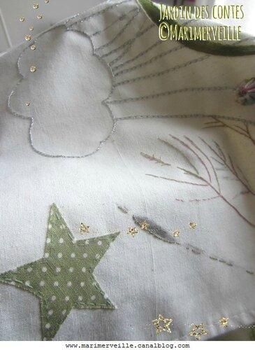 détail étoile nuage jardin des contes marimerveille