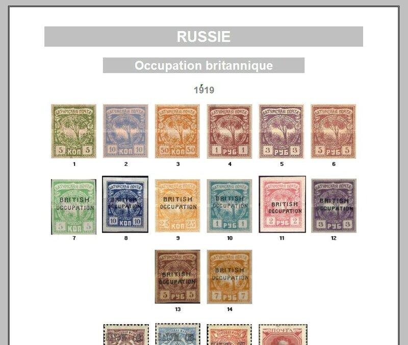 RUSSIE OCC BRITANNIQUE