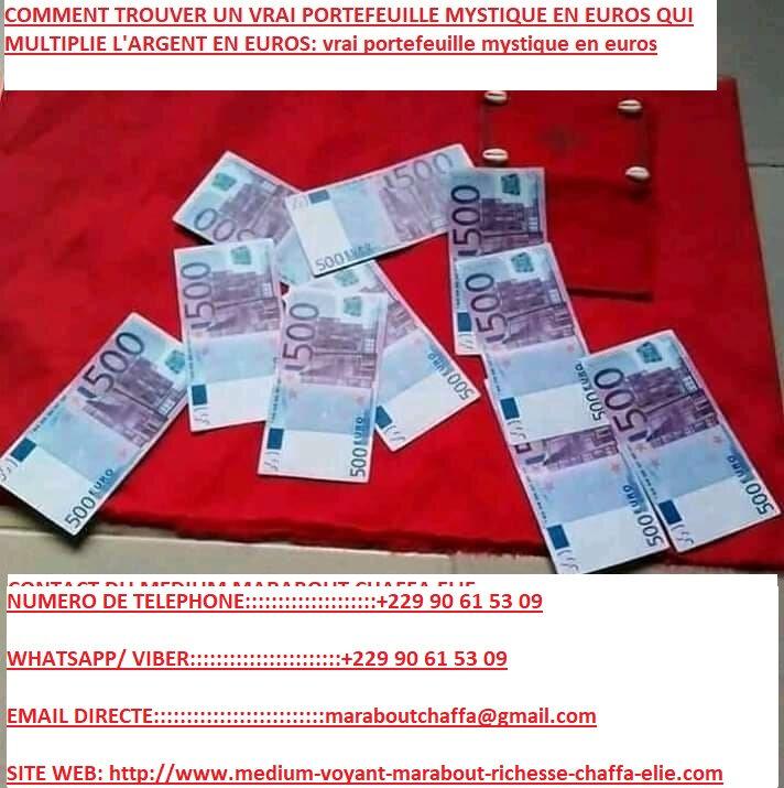 COMMENT TROUVER UN VRAI PORTEFEUILLE MYSTIQUE EN EUROS QUI MULTIPLIE L'ARGENT EN EUROS vrai portefeuille mystique en euros