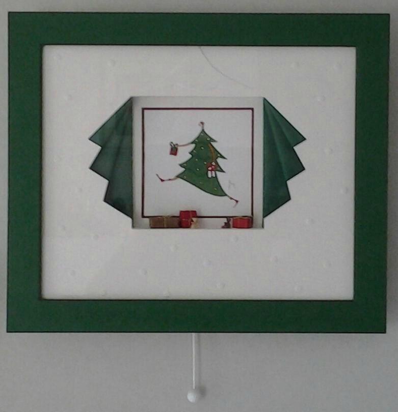 Biseau fantaisie de Noël avec boitage
