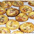 Mini-quiches à la fourme d'ambert