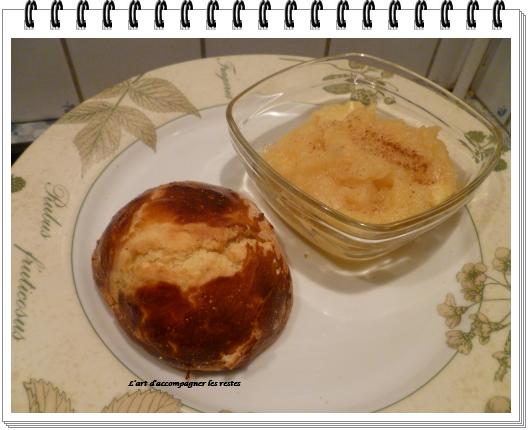 beignets à la compote de pommes cuits au four1