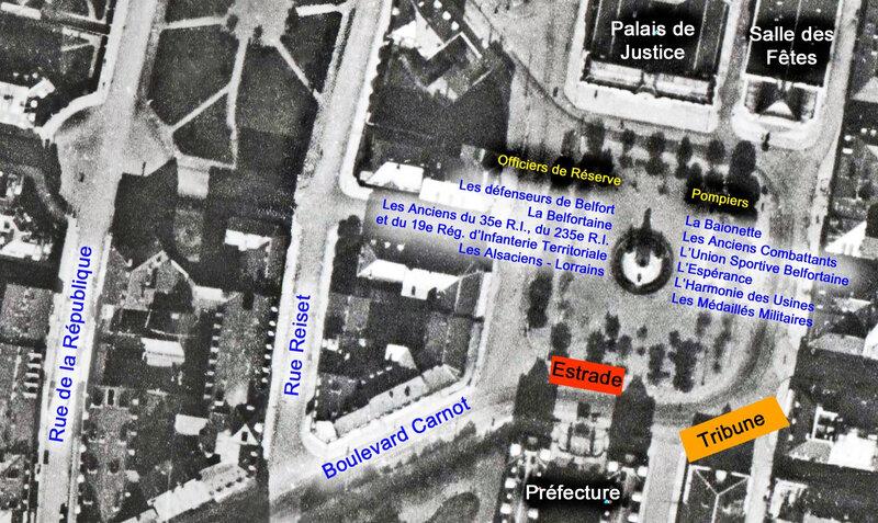 Vue aérienne 1924 Place République 2a