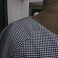 Blouse COLETTE en coton vichy noir et blanc taille 42-48 (3)