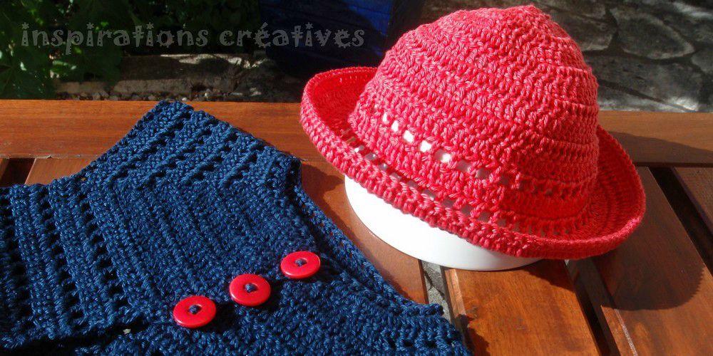 ea8198f3f68 Tuto Chapeau Bébé au Crochet - Inspirations Créatives