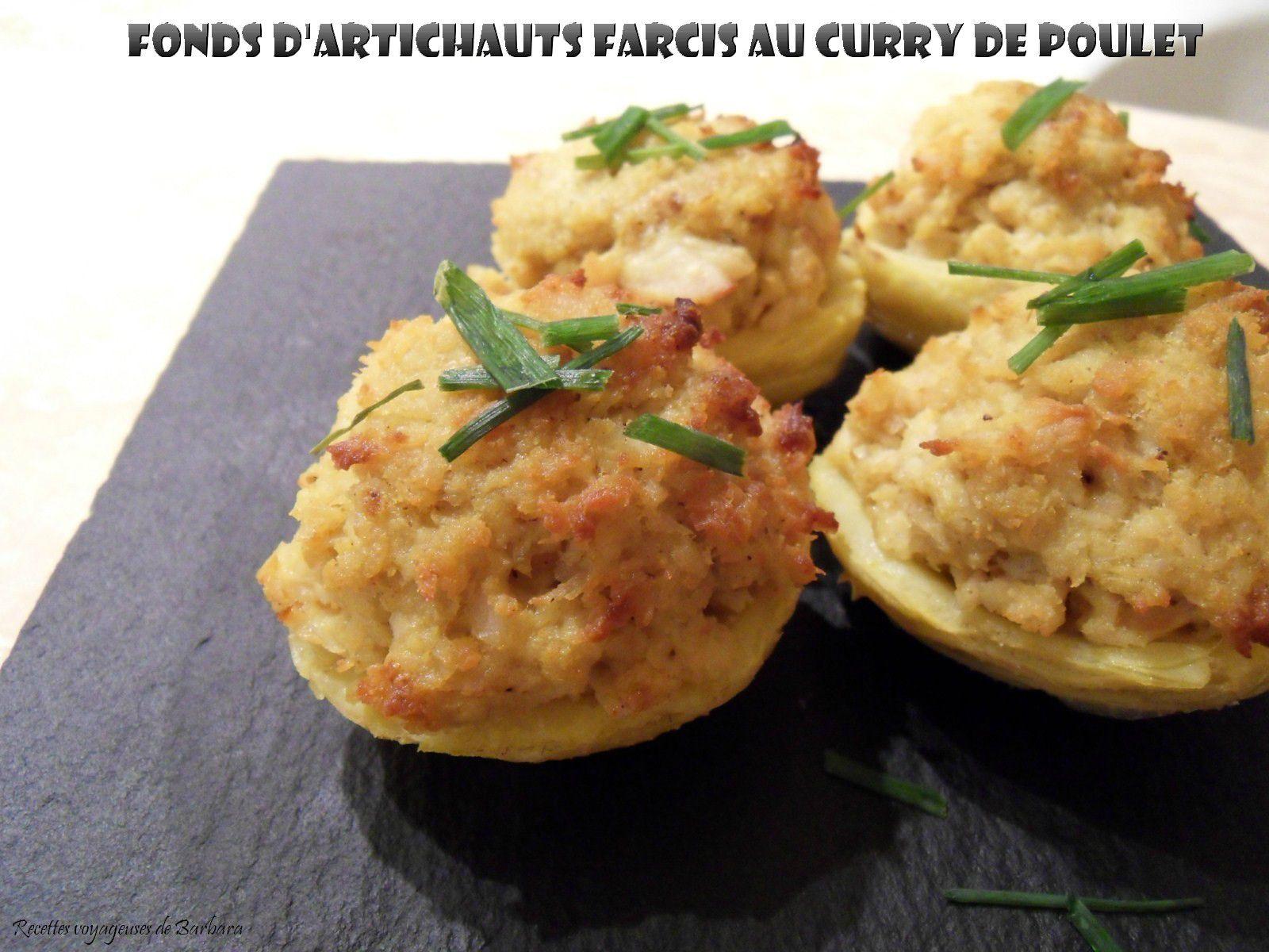 fonds d'artichauts farcis au curry de poulet1