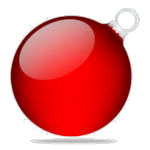 boule noel rouge transparent