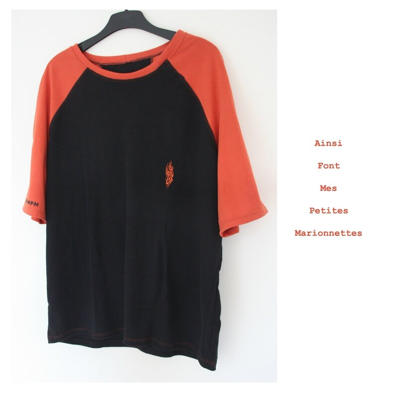 tee shirt orange tribal charly 1