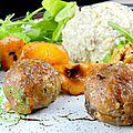 cromesquis de veau, risotto de champpignons 1