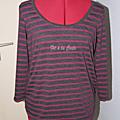 T-shirt de grossesse rayé douceur