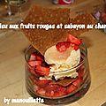 Tiramisu aux fruits rouges et sabayon au champagne