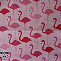 347 - Flamants fond rose