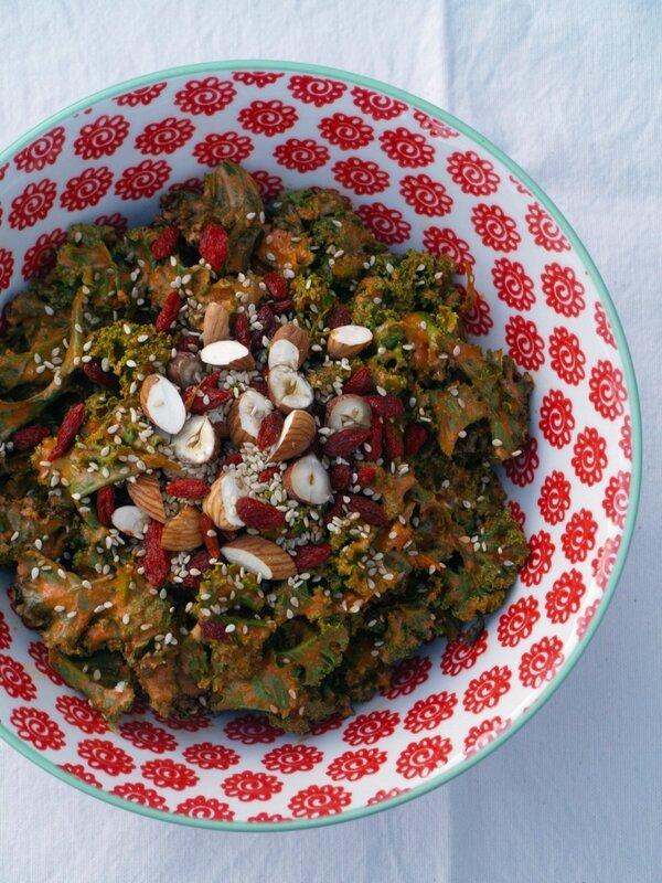 salade kale goji