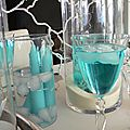 Nuit des anges décoratrice de mariage décoration de table turquoise exotique 009