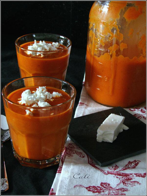 Soupe Froide Poivrons-Tomates & Feta de Chèvre 002
