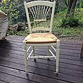 Relooking de chaises en paille 2