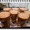 Mousse au chocolat au caramel