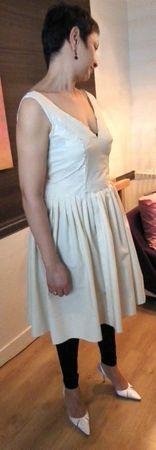 Hassinina robe mariée toile devant