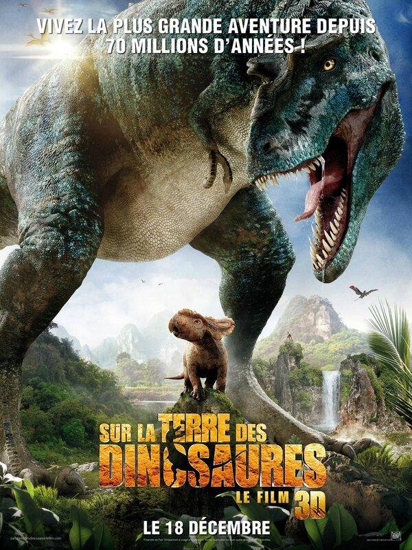 Affiche : Sur la Terre des Dinosaures - Le film 3D