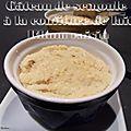 Gâteau de semoule a la confiture de lait rhum raisin